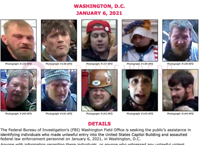 suspected Capitol rioters